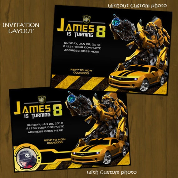 Transformer Birthday Invitations correctly perfect ideas for your invitation layout