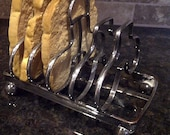 REDUCED Silver Toast Rack with Artificial Bread