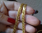 NAPIER Gold Tone Dual Layered Woven Necklace