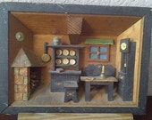 ANRI folk art wooden diorama