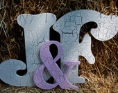 Large Wood Letters And the And Sign Ampersand. Initials  (A - Z) plus the ampersand