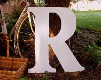 Wedding Guest Book Alternative 2 feet tall Wood Letter Initial Choose ABCDEFGHIJKLMNOPQRSTUVWXYZ