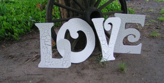 FOUR -  2 foot letters for wedding, home decor, wedding decorations props
