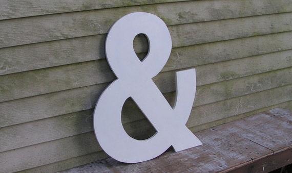 Wedding And Symbol Ampersand 2 feet tall. Lucida Sans Wedding Guest Book Alternative