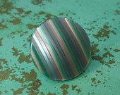 Salvaged striped lucite statement ring