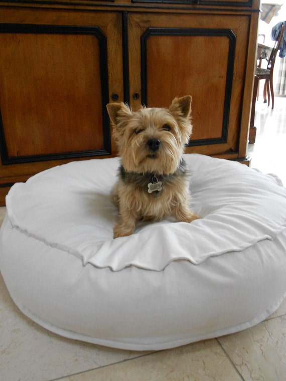 Vintage French Linen Feather Pet Bed