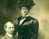 Gertrude and Walter Cross Dressing Drag Queen Real Photo Postcard Vintage RPPC