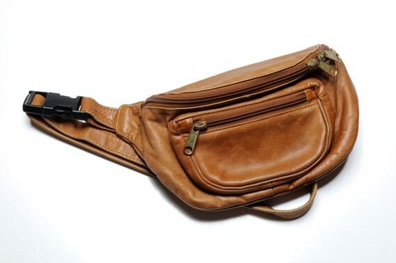 Vintage 80s Unisex Genuine Leather Fanny Pack