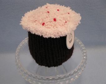 Knitted Chocolate Cupcake