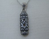 Sterling Silver Mezuzah Pendant With Star of David Necklace