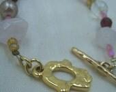 Gold Filled and Semi Precious Stones Hamsa Bracelet