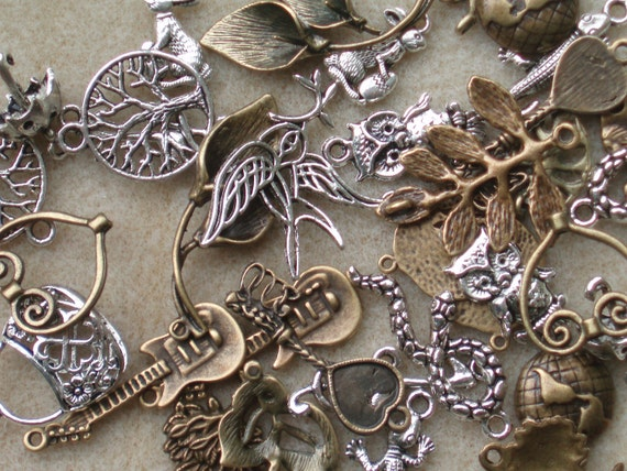 Your Choice  of One Dozen Charms, you pick collection, Sampler