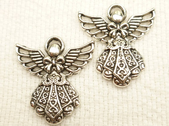 Gorgeous, Vintage-look, Christmas Angel Charms (6)