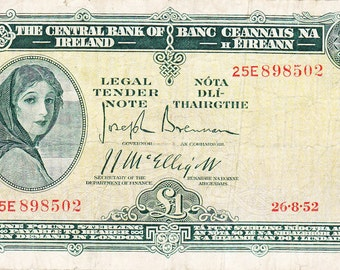 UNIQUE Gift for YoUr FaVoRiTe IRISH FrIeNd a One Pound Currency Note