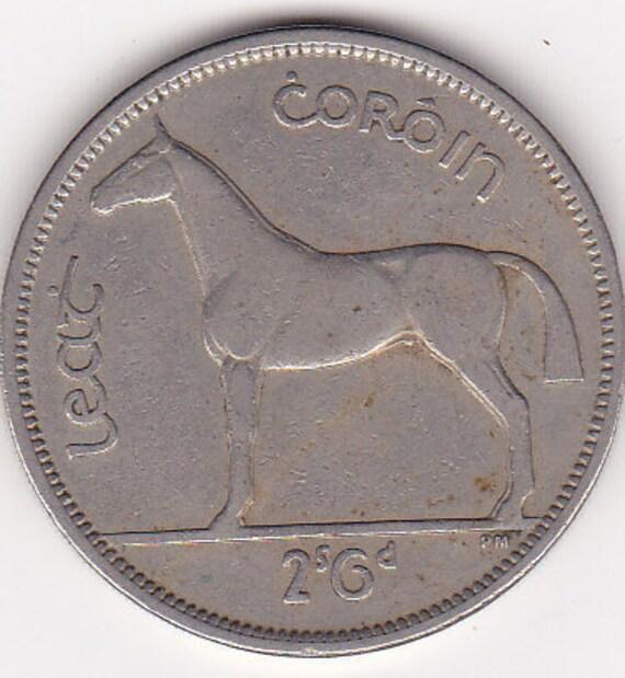 1954 Irish (Irland) Lucky Half Crown ( 2s & 6p) HIGH GRADE Ideal Birthday Gift