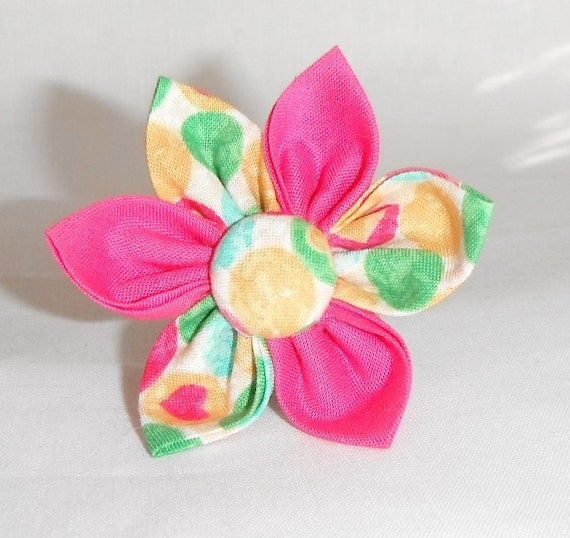 Add a Flower To Your  Dog Harness Or Collar