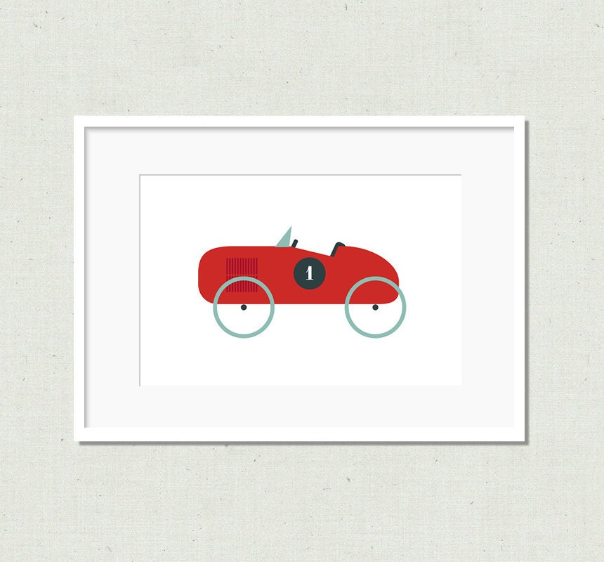 Car Nursery Wall Decor : Nursery decor wall art car