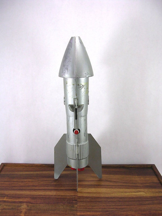 Rocket ship coin bank from the 1950s vintage by atomicranchvintage - Rocket ship piggy bank ...