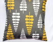 Pillows throw pillow sofa pillow YELLOW and BROWN pillow  decorative pillow accent pillow 18x18 inch