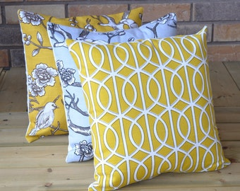 Designer pillows BUY MORE,Save More -Set Of Three Coordinating- 18x18 Pillow By Robert Allen Dwell Collection