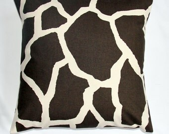 Pillow sofa pillow Giraffe Print cushion cover throw pillow accent pillow 18x18 inches designer pillow