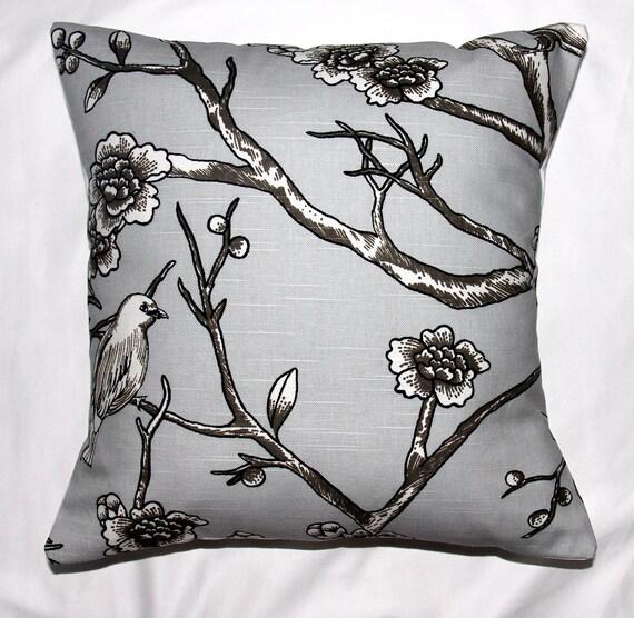 Decorative pillow designer pillow accent pillows  Dwell Studio Vintage Blossom Dove Designer Pillow Cover 18 x 18