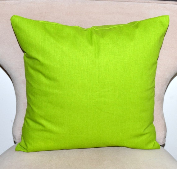 Green decorative pillow cover 18x18 inches accent pillow cushion cover