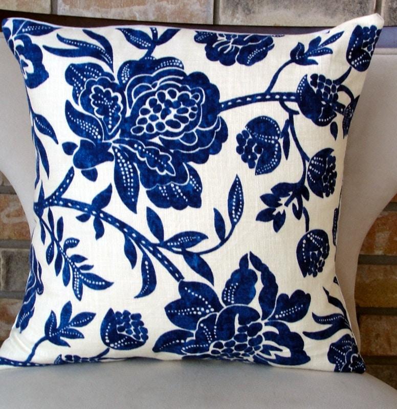 decorative pillow designer pillows home accents Blue floral