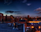 """Rooftop Skyline Panoramic Photo in Montreal - """"Le Plateau"""" SPECIAL 10X47"""