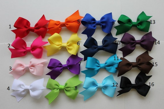 Hair bows - Baby Hair bows with none slip grip - Infant hair bows -You can choose colors. Set of 8