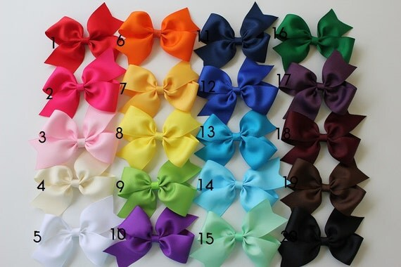 For baby girl  -  Girls hair bows - Toddler hair bows - Birthday gift set - Valentine hair bows. Youcan choose colors. Set of 20