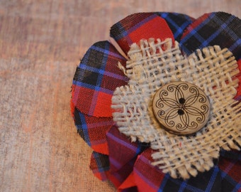 SALE!! Country Style Plaid Fabric Hair Accessory