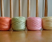4 Anchor pearl cotton balls pastels tons size 8, 10 gr aproximately 85 meters