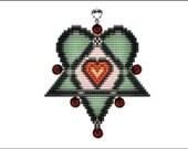 Heart Pentagram Pendant - PDF pattern