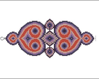 Mandelbrot Bracelet - PDF pattern