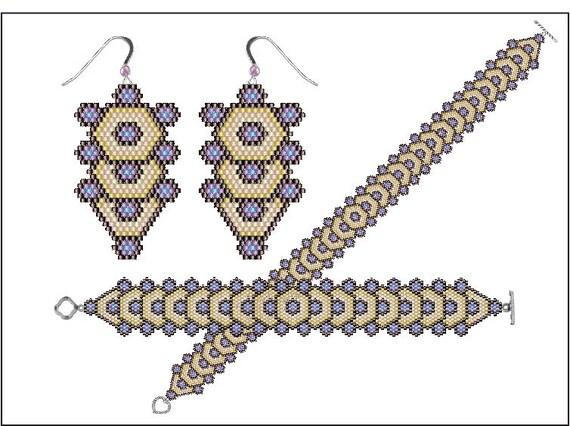 25% set discount Tree of Life - bracelet, earings, choker - PDF pattern
