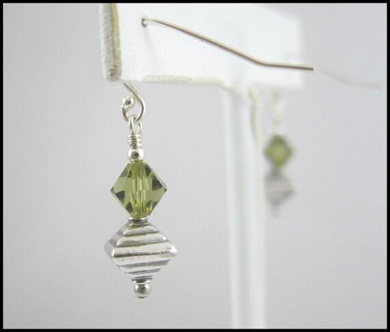 Handmade Earrings - Fun & Unique - Swarovski Crystal and Bali Silver