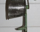 Vintage Green Hand Crank Cast Iron Grater