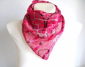 Pink Cotton Woman Scarf, Triangle, Holiday gift ideas, etsy coupon code