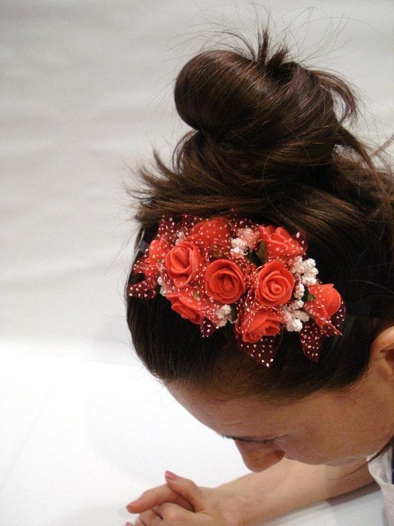 Cute Red Headband - Bridemaids accessories headband for women and teens