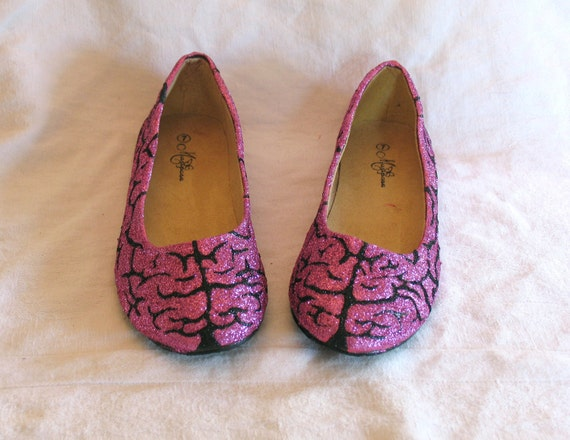 BRAINS - Zombie Inspired Glitter Shoes