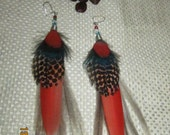 DreamCatchEars 100% natural fairtrade Feather Earings ( Number 4)