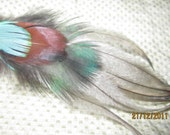 dreamCatchEars 100% natural fairtrade Feather Earings SMALL  ( Number 4)