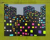 9:41 PM (16x20x3/4 Original Painting by Jazzberry Blue)