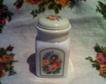 Vintage Avon milk glass powder bottle
