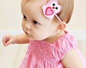 Pink Owl Baby Girl Headband TREASURY FEATURED