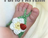 Flower barefoot sandals  - crochet pattern for babies and toddlers - PDF13