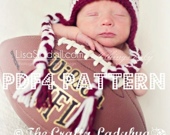 Game day hat pattern - earflap hat pattern - basic beanie earflap hat pattern - PDF4 instant download