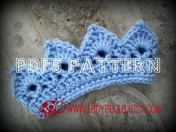 Pdf5 Pattern Mini Crown Crochet Pattern