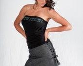 40% OFF SALE-Lace-up Mini Skirt-Denim Skirt-women's clothes-Womens fashion-womens skirts-Dance clothes-Adjustable clothes-denim clothes